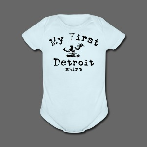My First Detroit Shirt - Short Sleeve Baby Bodysuit