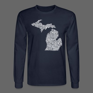 Michigan Words - Men's Long Sleeve T-Shirt
