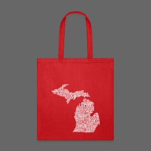 Michigan Words - Tote Bag