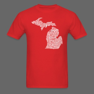 Michigan Words - Men's T-Shirt