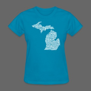 Michigan Words - Women's T-Shirt