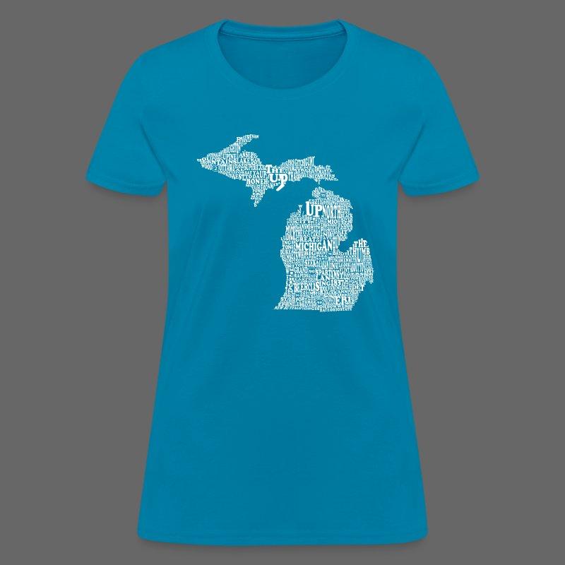 Michigan Words - Women's T-Shirt