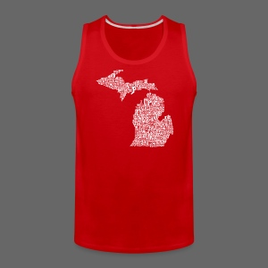Michigan Words - Men's Premium Tank