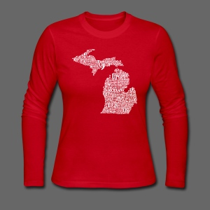 Michigan Words - Women's Long Sleeve Jersey T-Shirt