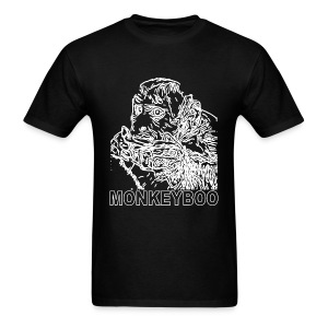 White on BlackM - Men's T-Shirt