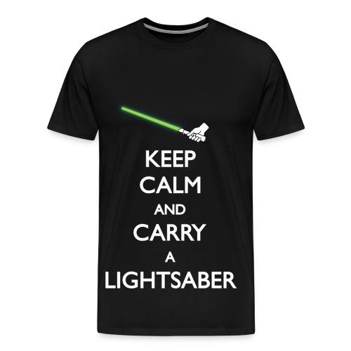 Keep calm green lightsaber - Men's Premium T-Shirt