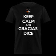 T-Shirts ~ Men's T-Shirt ~ Gracias, Dice (letras blancas)