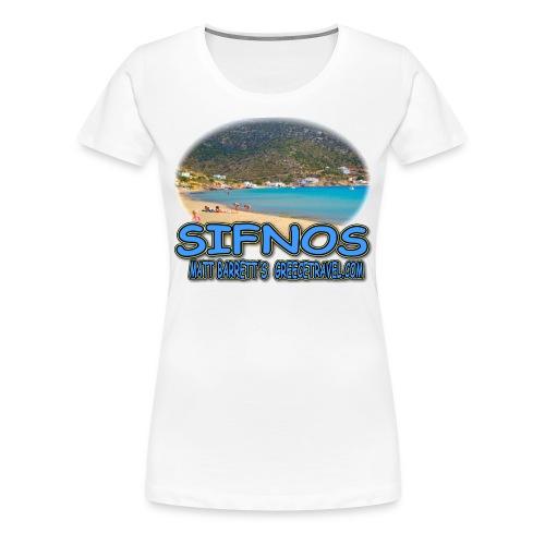 SIFNOS-VATHI (women) - Women's Premium T-Shirt