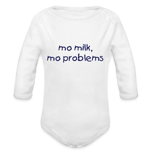 milk,  problems - Organic Long Sleeve Baby Bodysuit