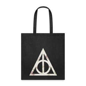 Deathly Hallows (Floral) - Tote Bag - Tote Bag