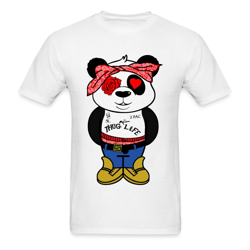 2PAC PANDA - Men's T-Shirt