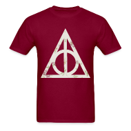 T-Shirts ~ Men's T-Shirt ~ Deathly Hallows (Floral) - Men's T-Shirt