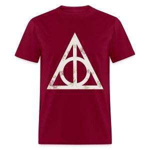 Deathly Hallows (Floral) - Men's T-Shirt - Men's T-Shirt