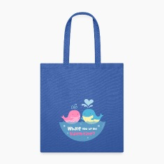 Be My Valentine Whale Pun Bags & backpacks