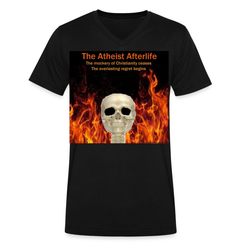 Atheist afterlife - Men's V-Neck T-Shirt by Canvas