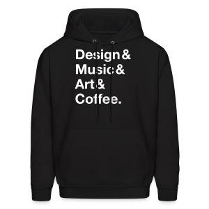 Design&Music&Art&Coffee. - Men's Hoodie