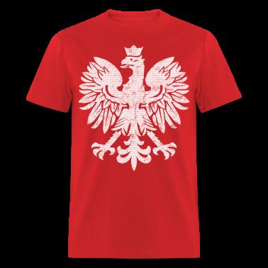Polish eagle halftone t shirt spreadshirt for Polish t shirts online