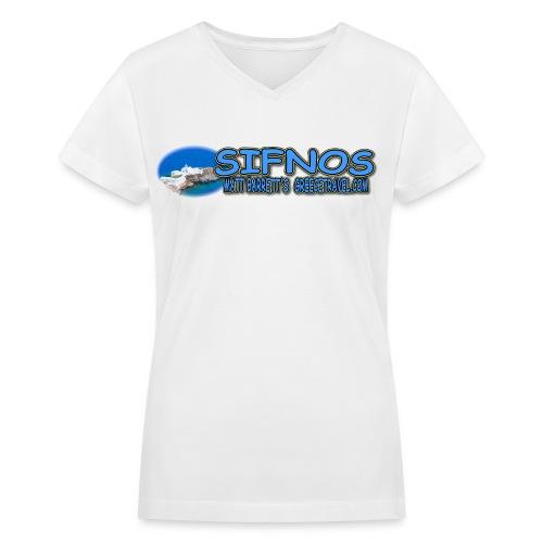 SIFNOS CHRISOPIGI LOGO (women v-neck) - Women's V-Neck T-Shirt