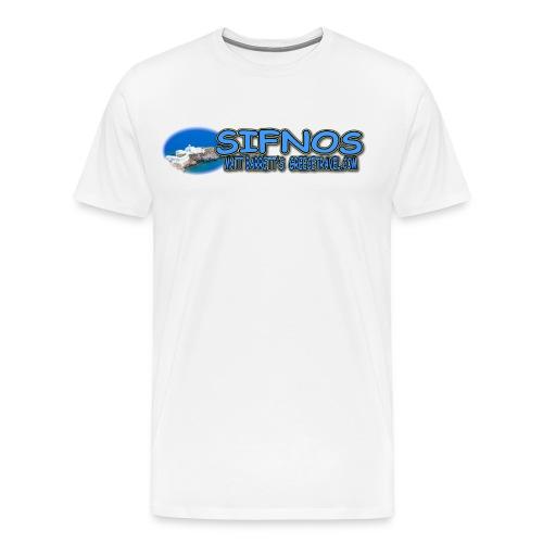 SIFNOS CHRISOPIGI LOGO (men) - Men's Premium T-Shirt