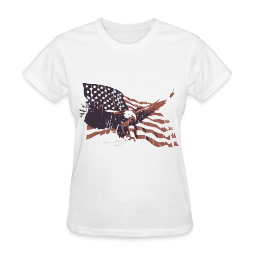 Flag & Eagle - Women's T-Shirt