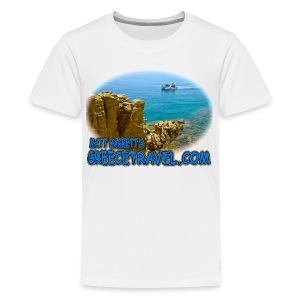 GREECETRAVEL MYKONOS BOAT (kids) - Kids' Premium T-Shirt