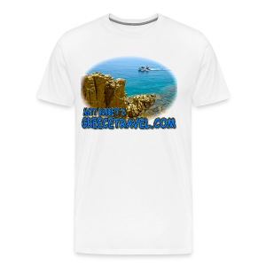 GREECETRAVEL MYKONOS BOAT (men) - Men's Premium T-Shirt