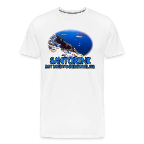 SANTORINI FIRA (men) - Men's Premium T-Shirt