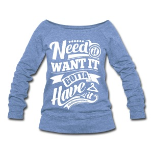 Off The Shoulder Sweatshirt - Women's Wideneck Sweatshirt
