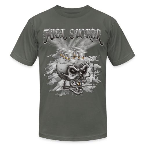 Racing Fuel Sucker Skull - Men's Fine Jersey T-Shirt
