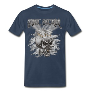 Racing Fuel Sucker Skull - Men's Premium T-Shirt