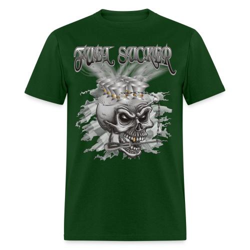 Racing Fuel Sucker Skull - Men's T-Shirt
