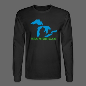 Yes Michigan - Men's Long Sleeve T-Shirt