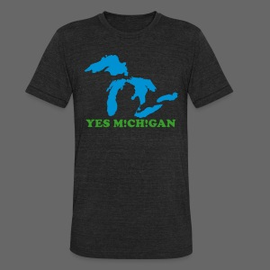 Yes Michigan - Unisex Tri-Blend T-Shirt by American Apparel