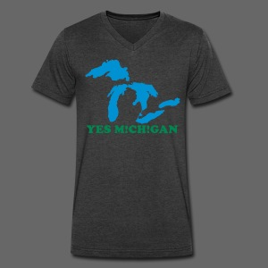 Yes Michigan - Men's V-Neck T-Shirt by Canvas