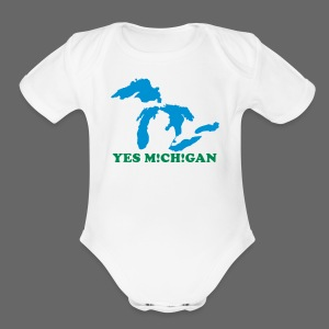 Yes Michigan - Short Sleeve Baby Bodysuit
