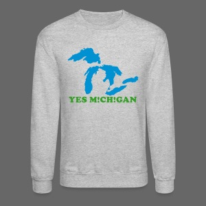 Yes Michigan - Crewneck Sweatshirt