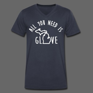 All You Need Is Glove - Men's V-Neck T-Shirt by Canvas