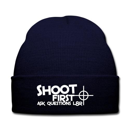 L8R - Knit Cap with Cuff Print