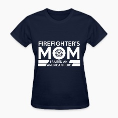 American Firefighter Mom Women's T-Shirts