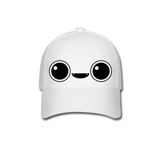 Cute Face Cap (Black) - Baseball Cap