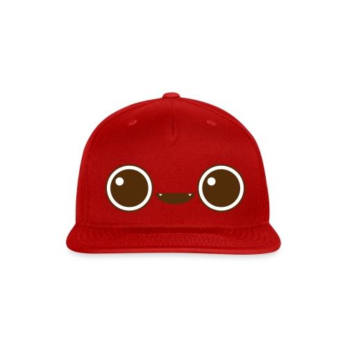 Cute Face Cap (Brown) - Snap-back Baseball Cap