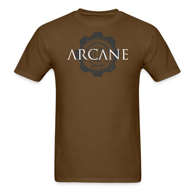 'Gears' [2015 update!] (Brown, Mens) - Men's T-Shirt