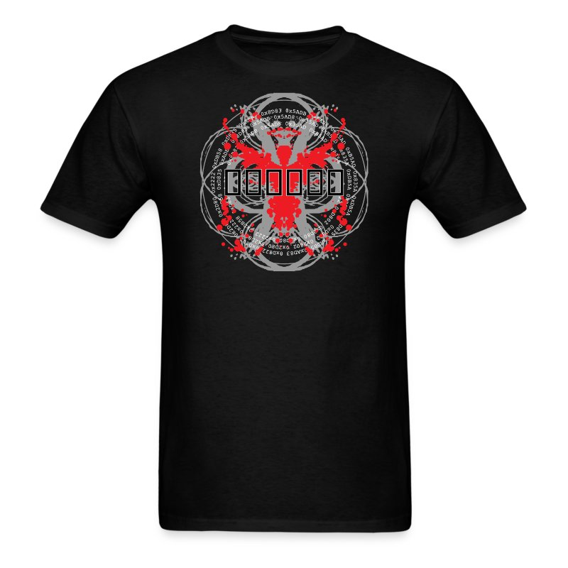 'Hex Code' [2015 reprint!] (Black, Mens) - Men's T-Shirt