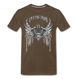 Flying V2 Motorcycle Engine T-Shirts - Men's Premium T-Shirt