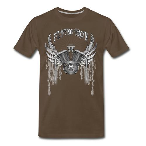 Flying V2 Motorcycle Engine T-Shirts - Men's Premium T-Shirt