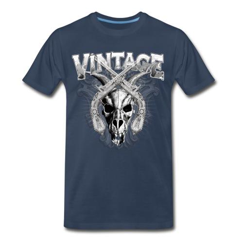 Vintage Dragon Skull T-Shirts - Men's Premium T-Shirt