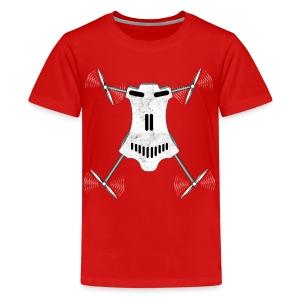 Drone / Copter Skull T-Shirts - Kids' Premium T-Shirt