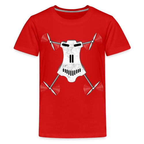 Drone / Copter Skull T-Shirts - Kids' Premium T-Shirt