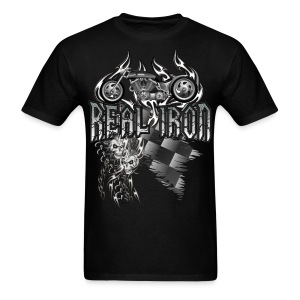 Real Iron Custom Motorcycle - Men's T-Shirt
