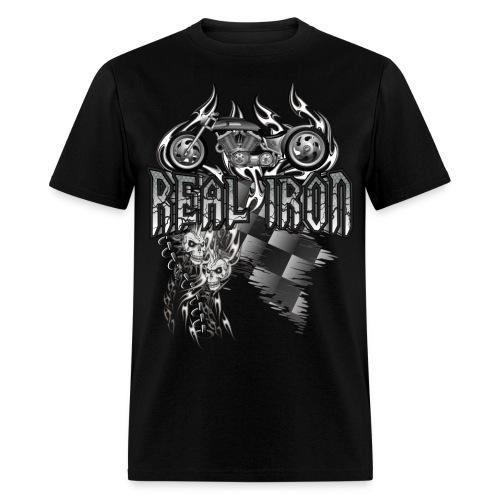 Real Iron Custom Motorcycle - Men's T-Shirt